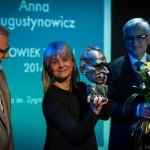 Anna Augustynowicz laureatką  I edycji Nagrody im. Zygmunta Hübnera CZŁOWIEK TEATRU